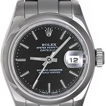 Rolex Datejust Ladies Stainless Steel Watch 179160 Black Dial