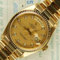 Rolex Day-Date 18038 diamanten minty D/P 1981
