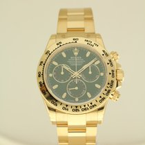 Rolex Daytona yellow gold green dial UNWORN from 2-2017 with B...