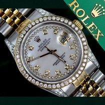 Rolex Ladies Rolex Steel And Gold 26mm Datejust Watch White...