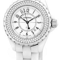 "Chanel Diamond ""J-12"" Fashion Watch."