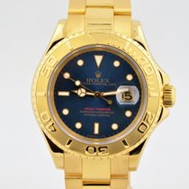 Rolex Yacht-master Solid 18k Yellow Gold Blue Dial 16628b 40mm