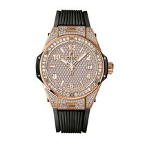 Hublot Big Bang One Click King Gold Full Pave 39mm Ref...