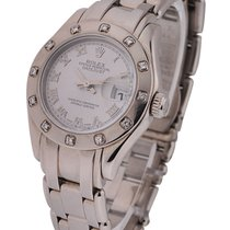 Rolex Used 80319 White Gold Ladies Masterpiece 80319 - 12...