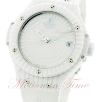 Hublot Big Bang 41mm All White Caviar - White Ceramic on Strap