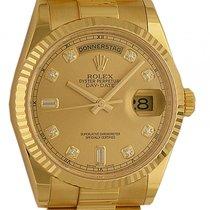 Rolex Day Date 36mm Gelbgold Präsident Armband Diamond Ref....