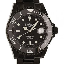 Davosa Ternos Diver Stahl Black PVD Automatik Armband Stahl 40mm