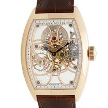 Franck Muller New  Geneve 18k Rose Gold Transparent Skull...