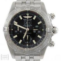 Breitling Uhr Blackbird Chronomat Edelstahl Ref. A44359 Revision
