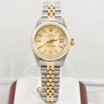 Rolex Lady-Datejust 79163 Champagne Tapestry Face Box &...