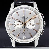 Zenith 03.2110.400/01.C498 Captain Chronograph SS / Silver...