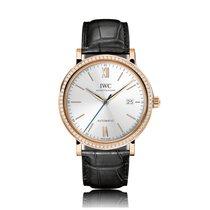 IWC Schaffhausen Portofino Automatic Rose Gold Silver Dial...