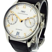IWC 5001-14 Portuguese 42mm Automatic in Steel - on Black...