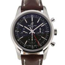 Breitling Transocean 43 GMT Black Dial Chronograph