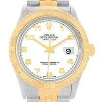 Rolex Datejust Turnograph Steel 18k Yellow Gold Mens Watch 16263