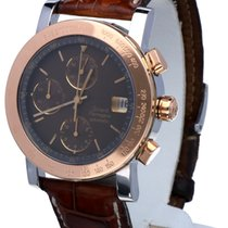 Girard Perregaux Chronograph Rose Gold Steel Crocostrap 38 mm