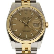 Rolex Datejust 36mm 116233 Steel Gold Champagne 2004 Box/P #154-4
