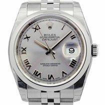Rolex Datejust 36MM Silver Dial Roman Domed Bezel Jubilee...