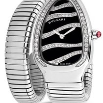 Bulgari 102439SP35BDSDS.1T Serpenti Tubogas 35mm in Stainless...