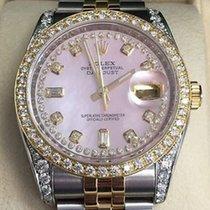 Rolex 36mm Ladies Mens 116233 Datejust 18k Gold Steel Diamond...