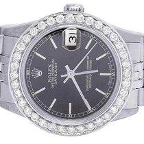 Rolex Ladies Rolex Midsize Datejust 68240 31MM Oyster Black...
