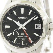 세이코 (Seiko) Spring Drive Gmt Sbge013 Steel Watch 9r66-0ae0...