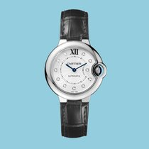 Cartier BALLON BLEU DE CARTIER 33 mm Edelstahl Leder -NEU-