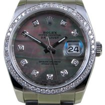 Rolex Datejust 116200 Diamond Dark Mother of Pearl Oyster...