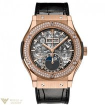 Hublot Classic Fusion 42 mm Moonphase King Gold Diamonds...