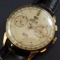 Angelus Vintage ChronoDato Triple-Date Chronograph 18K Gold...