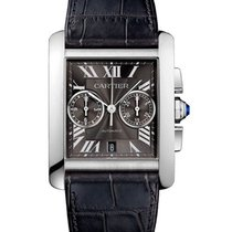 Cartier W5330008 Tank MC Chronograph in Steel - on Leather...