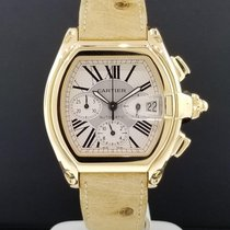 Cartier Roadster W62021Y2 XL 2619 Chronograph Date 18k Yellow...