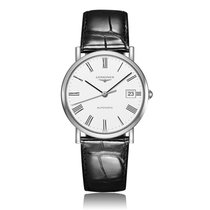 Longines Elegant Collection Automatic Stainless Steel White...