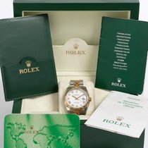 Rolex Datejust 116233 gold/ steel white roman box & UK papers