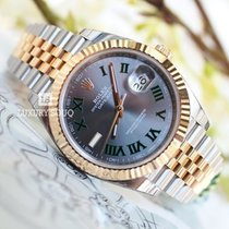 Rolex DATEJUST 41 STEEL AND YELLOW GOLD GREY ROMAN DIAL JUBILEE