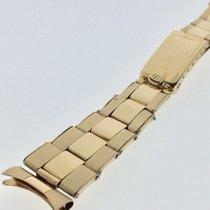 Rolex Men's 14K Riveted Oyster Bracelet 19mm Endpieces