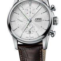 Oris Artelier Chronograph Crocodile Stainless Steel