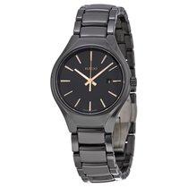 Rado Ladies R27059162 Black Dial Black Ceramic Watch