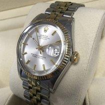 Rolex Oyster Datejust Jubilee Gold Steel Silver Dial 36 mm