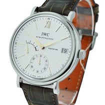IWC IW510103 Portofino Hand Wound 8 Days in Steel - On Brown...