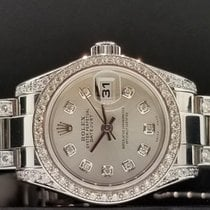 Rolex Lady Datejust 26mm Ref. 179160 Custom New Style Diamond...