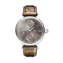 IWC IW515103 Portofino Mens Manual in White Gold - On Brown...