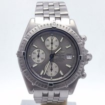 Breitling Crosswind Chronograph A13355 Silver Dial On Bracelet...