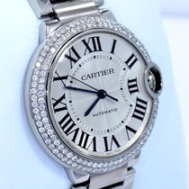 Cartier Ballon Bleu W6920046 36mm Midsize 1.65ct Diamond Bezel...