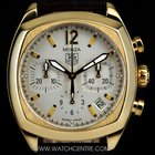 TAG Heuer 18k Yellow Gold Silver Dial Classic Monza B&P...