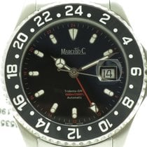 "Marcello C. ""Tridente GMT"" 43,6mm. steel case. New,..."