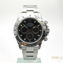 Rolex Daytona Edelstahl schwarzes Zifferblatt  116520  aus 2011