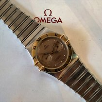 Omega Constellation Chronometer Day-Date Quarz  Oro&Acciaio
