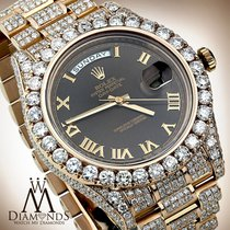 Rolex 41 Mm In Solid 18kt Rose Gold Diamonds