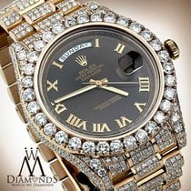 Rolex Men's Diamond Custom Iced Out Rolex 41 Mm In Solid...
